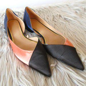 Zara Three-Tone Flat Shoes 38